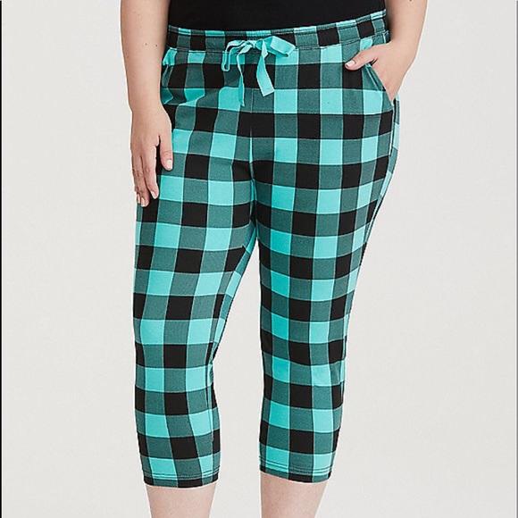 70ad16a7fa45f NWT Torrid size 00 cropped sleep pants checkered